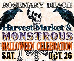 Rosemary Beach Harvest Market and Monstrous Halloween Celebration