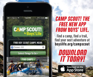 Camp Scout! The free new app from Boys' Life.
