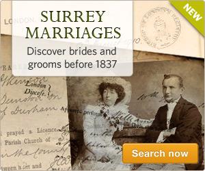 Surrey Marriages online