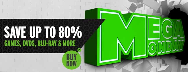 Mega Monday - save up to 80% off on best selling games, blu-ray & more at Zavvi.com
